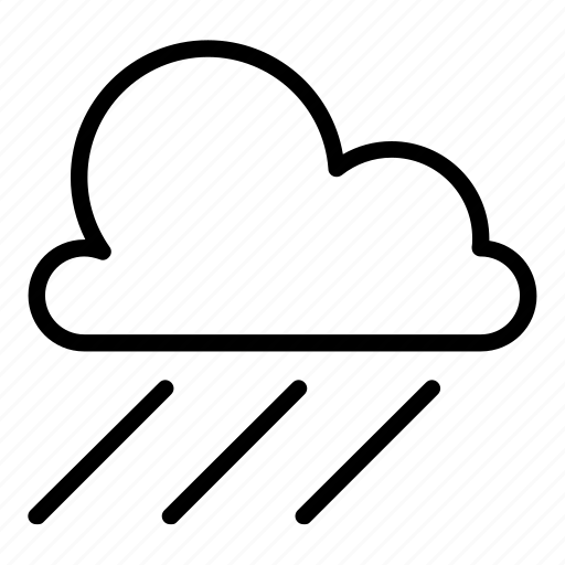 cloud, cloudy, drizzle, rain, raining, rainy, showers icon