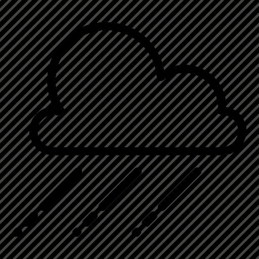 cloud, clouds, cloudy, forecast, rain, raining, weather icon