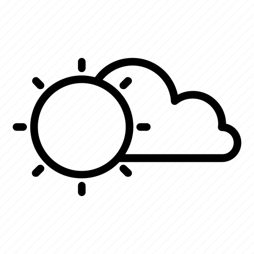 Cloud, cloudy, humid, sun, sunny, warm icon - Download on Iconfinder