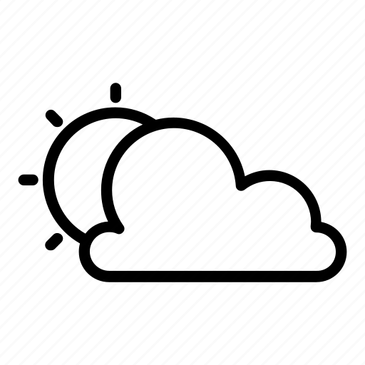 cloud, cloudy, forecast, scattered clouds, sun, sunny, weather icon