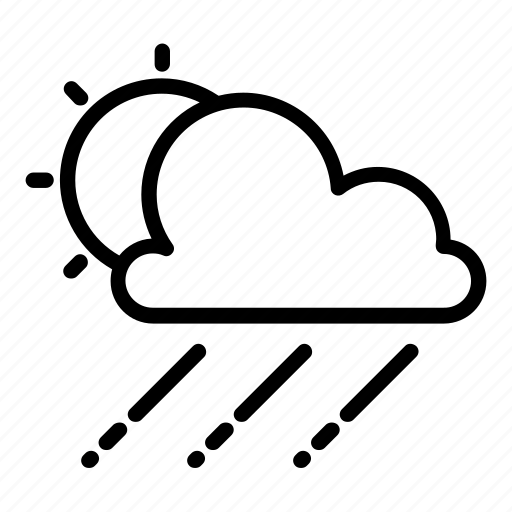 cloud, cloudy, haze, rain, raining, sun, windy icon