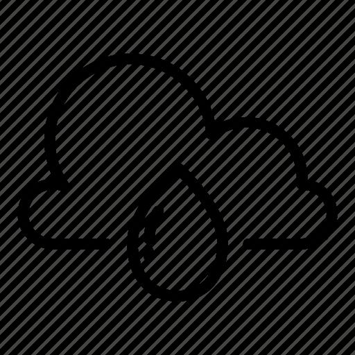 cloud, cloudy, forecast, rain, raining, rainy, weather icon