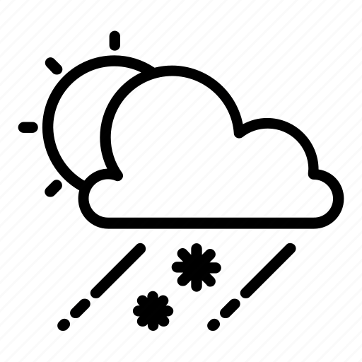 cloud, haze, raining, snow, snowflake, sun, sunny icon