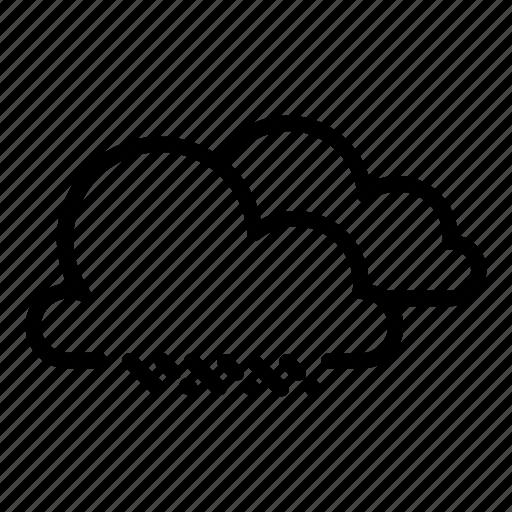 clouds, cloudy, drizzle, haze, raining, rainy, showers icon