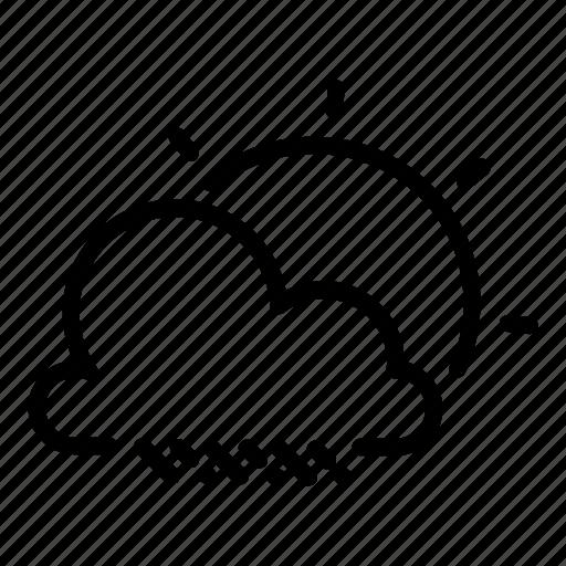 cloud, clouds, drizzle, rain, raining, showers, sun icon