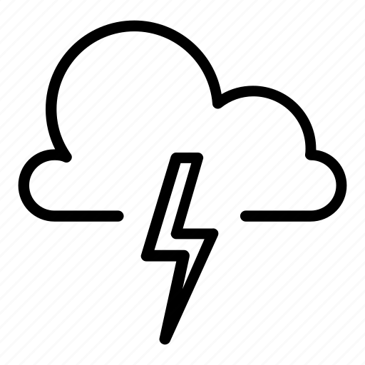 cloud, clouds, cold, lightning, thunder, thunderbold, thunderstorm icon