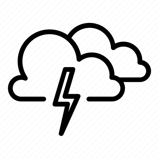 clouds, cloudy, cold, lightning, thunder, thunderbolt, thunderstorms icon