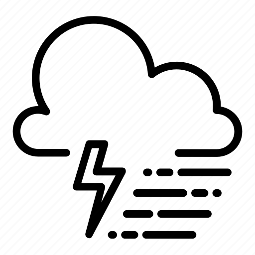 cold, drizzle, rain, raining, showers, thunder, thunderstorms icon
