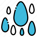 drop, humidity, rain, season, water icon