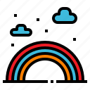 cloud, forecast, rainbow, season, weather icon