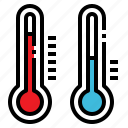 fever, hot, temperature, thermometer, weather icon