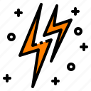 bolt, electricity, flash, lightning, thunder icon