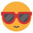hot, summer, sun, sunglasses, weather icon