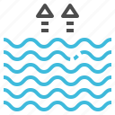 flood, level, sea, tide, wave icon