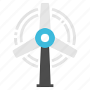 energy, mill, turbine, weather, wind icon