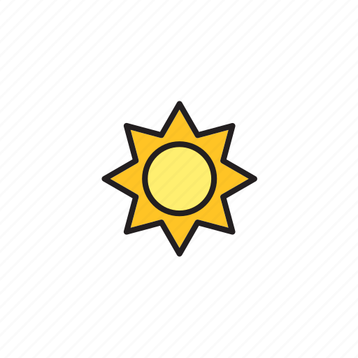 forecast, meteorology, nature, sun, sunny, weather icon