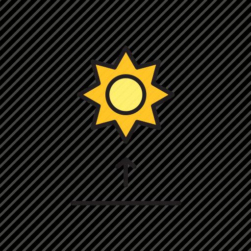 forecast, meteorology, sun, sunrise, weather icon