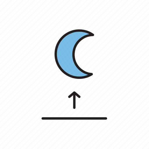 forecast, meteorology, moon, moonrise, weather icon