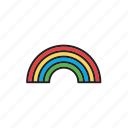 bow, forecast, meteorology, rainbow, weather icon