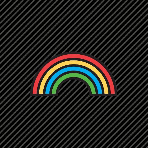 bow, forecast, meteorology, rainbow, weather icon