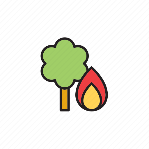 fire, forecast, forest, meteorology, tree, weather, woods icon