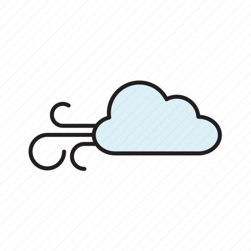 cloud, forecast, meteorology, weather, wind icon