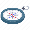 compass, directional tool, gps, navigational, speedometer icon