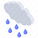 drizzling, hail, nature, rain, weather icon