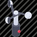 anemometer, anemometer instrument, scientific instrument, wind cone, wind instrument, wind meter icon