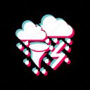 bad, rain, storm, tornado, weather icon