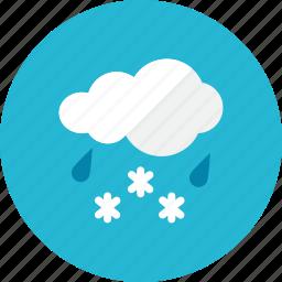 rain, snow icon