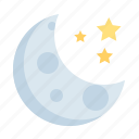 moon, star, crescent, weather