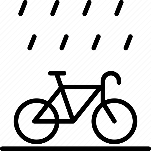 bicycle, drive, hobby, rain, travel, weather icon