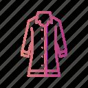 coat, jacket, long, rain icon