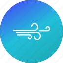 air, weather, wind, windy icon