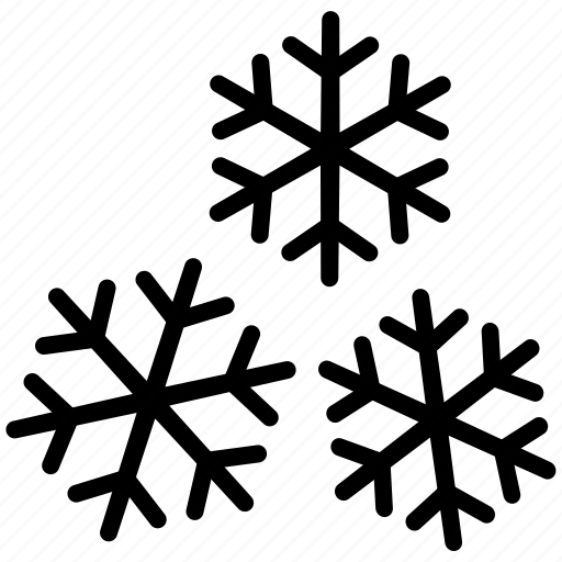 snow, snowfall, snowflake, snowflakes, winter icon
