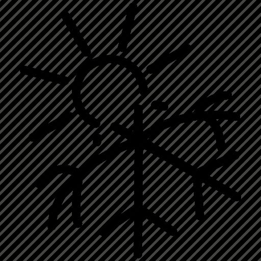 defrost, dissolve, evanish, flake, melt, melting, snow, snowflake, spring, thaw icon