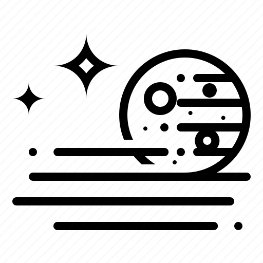 fog, foggy, moon, stars, weather icon