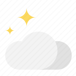 cloud, night, stars, weather icon