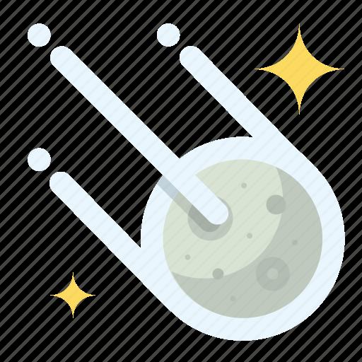 comet, night, stars, weather icon