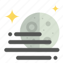 first, fog, moon, quarter, weather icon
