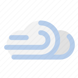 breeze, cloud, forecast, weather, wind icon