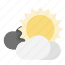 clouds, day, forecast, sun, weather icon