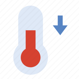 cooling, forecast, temperature, thermomete, weather icon