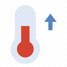 forecast, heating, temperature, thermometer, weather icon
