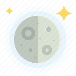 first, moon, quarter, weather icon