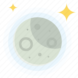 moon, night, stars, weather icon