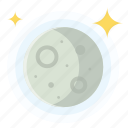gibbous, moon, waning, weather icon