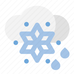 rain, snow, weather icon