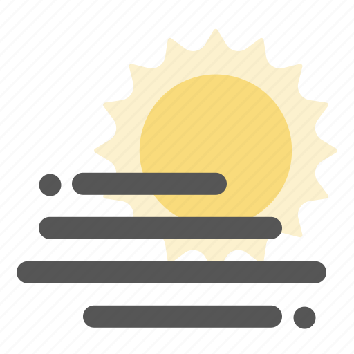 fog, haze, sun, weather icon